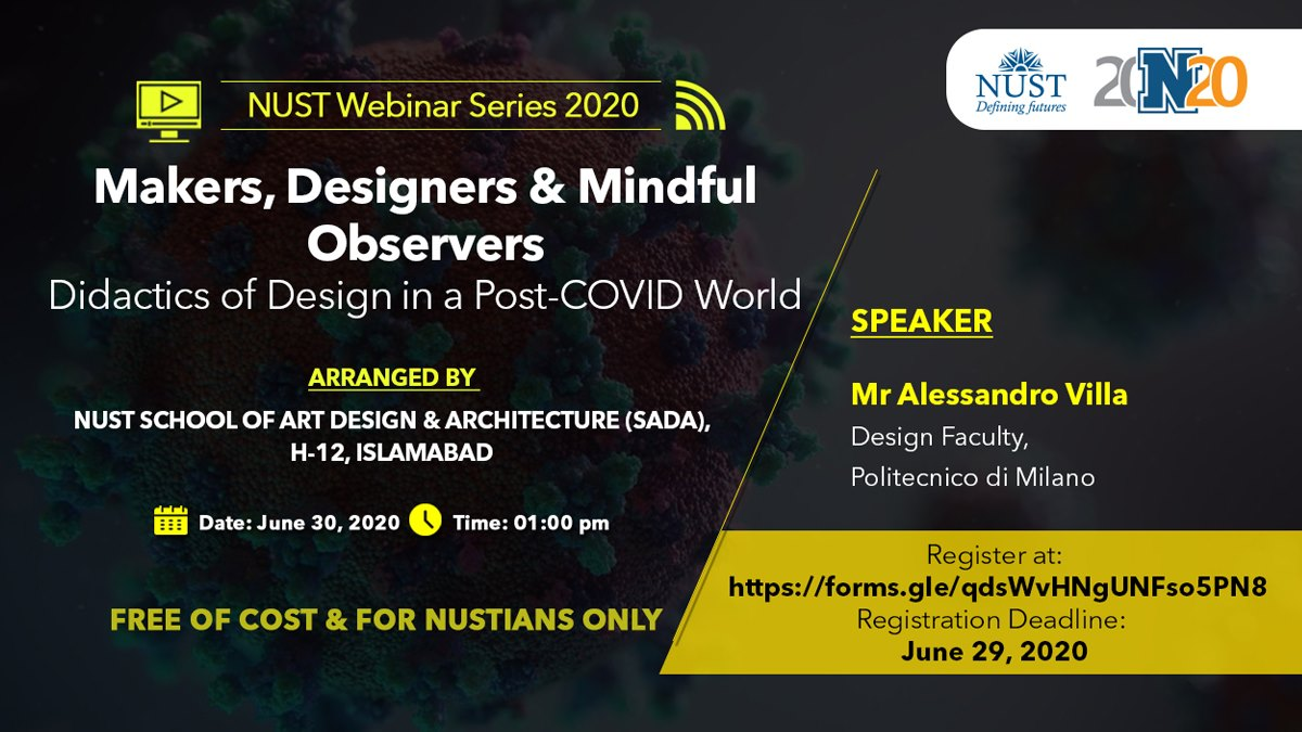 Speaker at NUST School of Art Design & Architecture (SADA), Islamabad