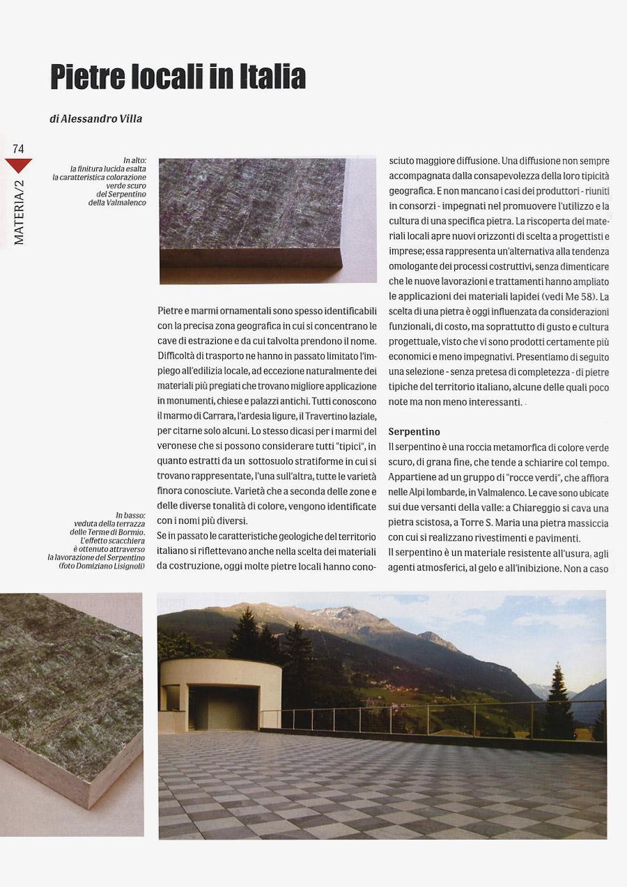 Local stones in Italy (part I)