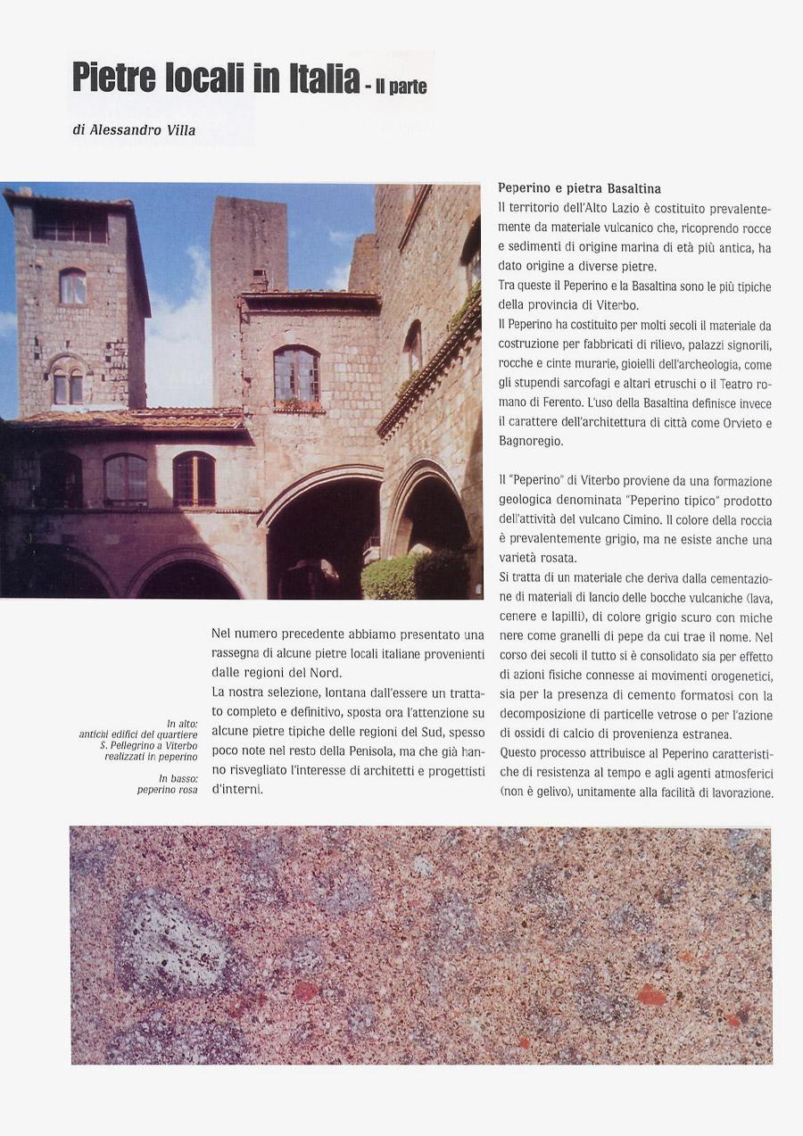 Local stones in Italy (part II)