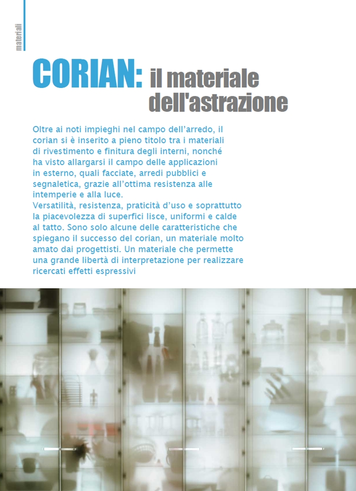 Corian: the symbol of abstraction - Alessandro Villa architect