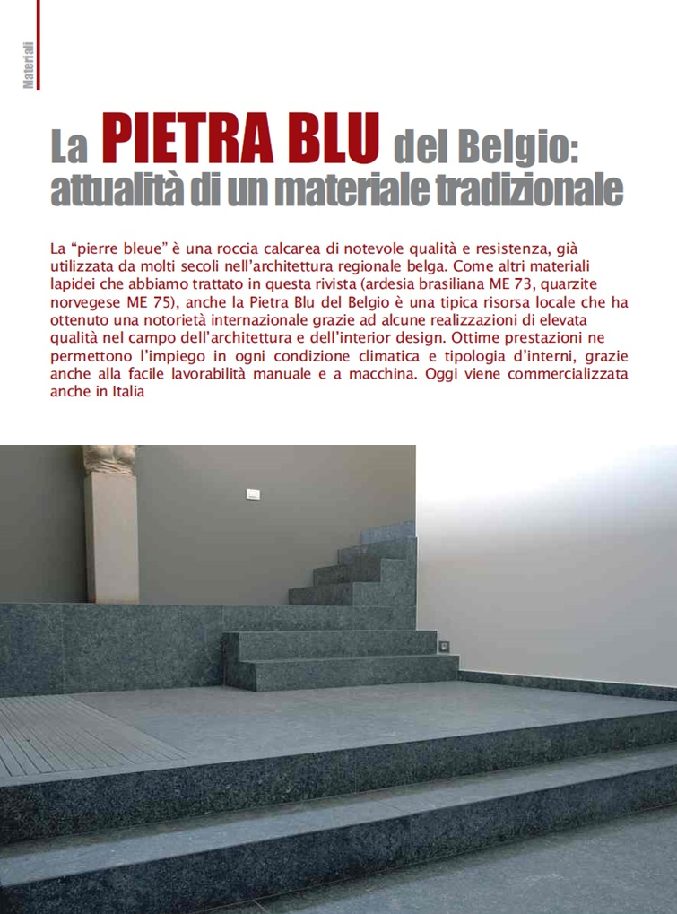 Belgian Blu Stone: modernity of a traditional material - Alessandro Villa architect