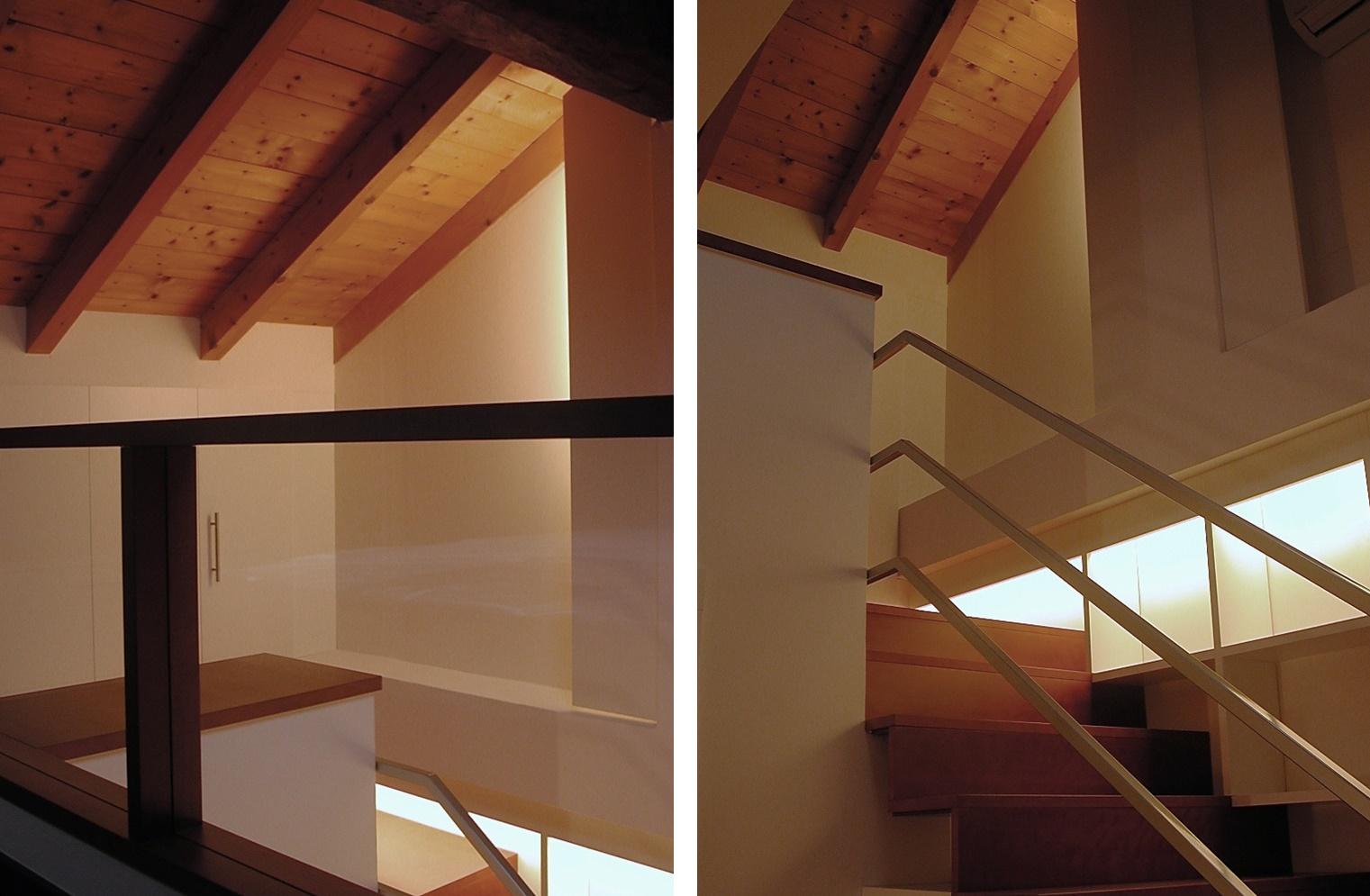 Wood stair - Alessandro Villa architect