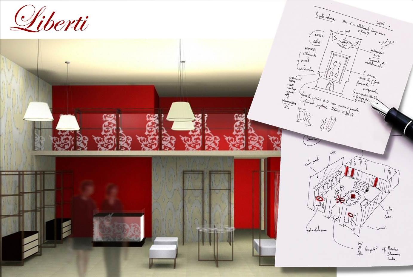 Liberti, underware store format, 2004, project by: Alessandro Villa  - Alessandro Villa architect