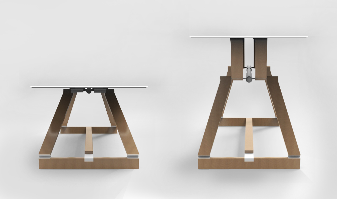 Linak adjustable height table - Alessandro Villa architect